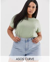 Camiseta con cuello redondo en color caqui ultimate ASOS de color Green