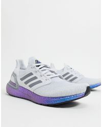Кроссовки Ultraboost-серый Adidas для него, цвет: Blue