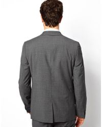 Esprit - Gray Skinny Fit Jacket With Mini Check for Men - Lyst