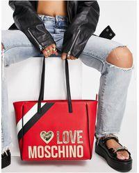 Красная Сумка-тоут С Большим Логотипом -красный Love Moschino, цвет: Multicolor