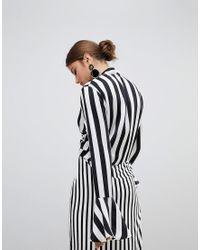 Missguided Black – Oberteil mit Streifen und Schnürung vorn