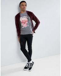 Blend - Gray Skull Marble T-shirt for Men - Lyst
