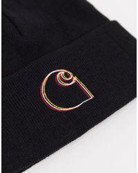 Gorro negro con logo Commission Carhartt WIP de hombre de color Black