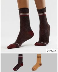 Vero Moda Multicolor Glitter 2 Pack Socks