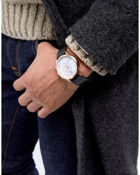 ASOS Watch In Black And Rose Gold With Technical Sketch Design for men