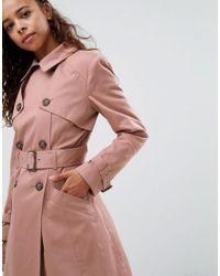 ASOS Pink Classic Trench Coat