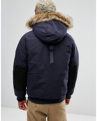 Carhartt WIP - Blue Trapper Jacket With Corduroy Elbow Patches for Men - Lyst