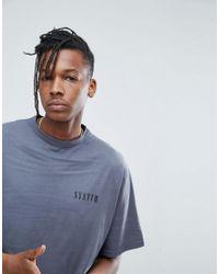 SYSTVM - Gray Chest Logo Crew Neck T-shirt for Men - Lyst