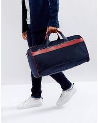 HUGO - By Boss Nylon And Leather Carryall Blue for Men - Lyst
