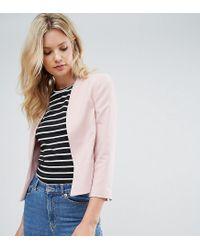 New Look - Pink Crop Blazer - Lyst