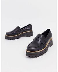 Park Lane Loafers Met Dikke Zool En Brede Pasvorm in het Black