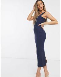 Темно-синее Облегающее Платье Мидакси -синий Vesper, цвет: Blue