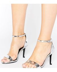 New Look Metallic Barely There Heeled Sandal