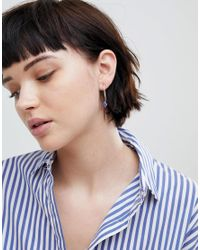 ASOS - Metallic Design Stone Bead Pull Through Earrings - Lyst