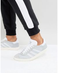 Adidas Originals Gray Gazelle Prime Knit Trainers In Grey Bb2751 for men