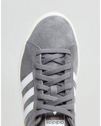 Adidas Originals - Gray Campus Sneakers In Grey Bz0085 for Men - Lyst