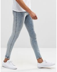 Dr. Denim - Kissy Extreme Super Skinny Jeans Light Blue Crush for Men - Lyst