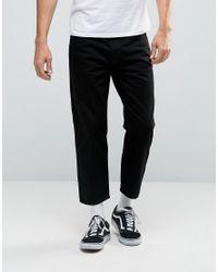 Dr. Denim Black Otis Cropped Straight Jeans for men