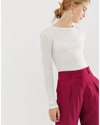 Pantalon taille haute coupe droite ASOS en coloris Pink