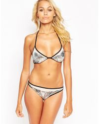 ASOS - Multicolor Sequin Embellished Mesh Cut Out Side Bikini Bottom - Lyst