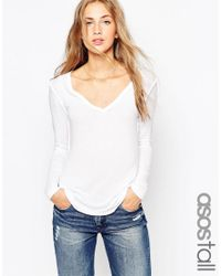 ASOS   White Tall The New Forever T-shirt With Long Sleeves   Lyst