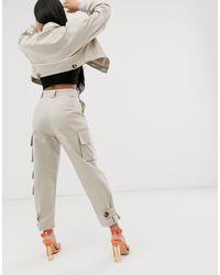 ASOS DESIGN Petite - Pantalon ASOS en coloris Multicolor