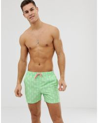 Шорты Для Плавания С Принтом Мороженого Recycled South Beach для него, цвет: Green