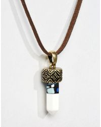 Icon Brand | Metallic Prize Leather Necklace for Men | Lyst