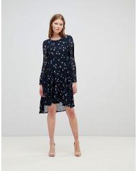 Vero Moda Blue Petite Ditsy Printed Midi Dress