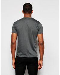 DKNY - Gray T-shirt Rubber Chest Print for Men - Lyst