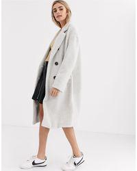 New Look Gray Tailored Coat