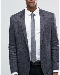SELECTED - Gray Tie for Men - Lyst