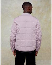 Topman Purple Quilted Liner Jacket for men