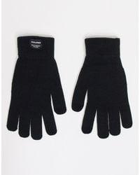 Черные Вязаные Перчатки -черный Цвет Jack & Jones для него, цвет: Black