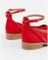 ASOS Red – Molly – Flache Schuhe