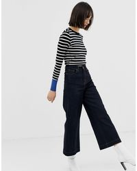 Warehouse Multicolor – Gestreifter Pullover mit Kontraststreifen
