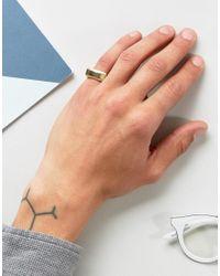 Vitaly - Metallic Fyra Geometric Ring In Gold - Lyst