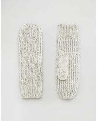 Alice Hannah | Natural Sparkle Cable Mittens | Lyst