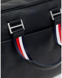 Sacoche pour ordinateur portable en similicuir avec petit logo Tommy Hilfiger pour homme en coloris Black