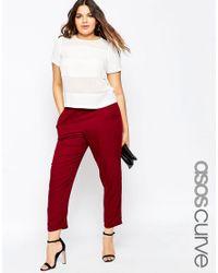 ASOS | Purple Curve Woven Peg Trouser | Lyst
