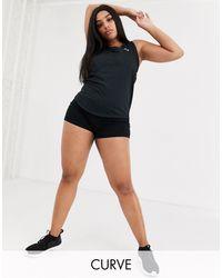Тренировочные Шорты Curve-черный ASOS 4505, цвет: Black