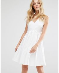 Y.A.S White Unia Dress With Pleat Skirt