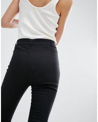 Monki - Black Flared Trousers - Lyst