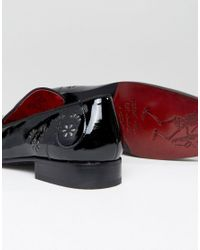 Jeffery West - Black Yung Skull Patent Smart Loafers for Men - Lyst
