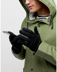 Gants pour écran tactile ASOS pour homme en coloris Black