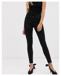 AllSaints Grace Skinny Jeans-black