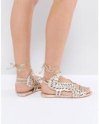 Kurt Geiger Kg By Kurt Geiger Malta Metallic Flat Sandals