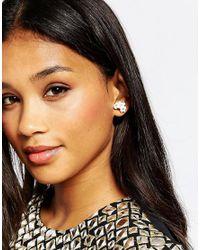 ALDO | Black Amadeusa Through & Through Earrings | Lyst