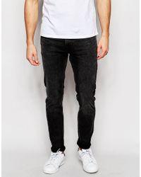 Weekday Jeans Friday Skinny Fit Generic Black Acid Wash for men