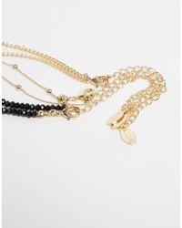 ALDO | Black Ldo Lapin Layering Tassel Necklace | Lyst